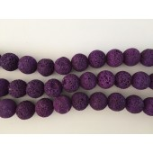 16mm lilla lava perler