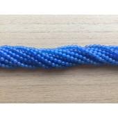 3mm runde perler af blå agat