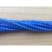 4mm blå agat perler