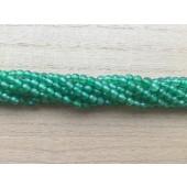 4mm facet grøn agat perler