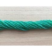 2mm perler af grøn agat
