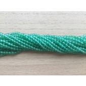 3mm perler af grøn agat