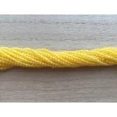 2mm perler af gul agat