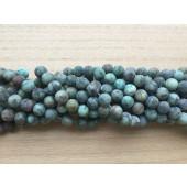 10mm matte perler af afrikansk turkis