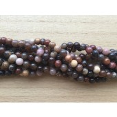 6mm træ agat perler
