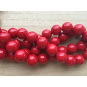 16mm røde stenperler