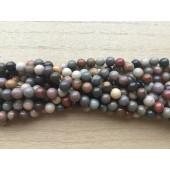 6mm imperial jaspis perler