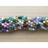 6mm multifarvet ild agat perler