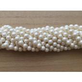 6mm hvide shell perler