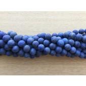 8mm matte lapis lazuli perler