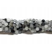 4mm sort rutilkvarts perler