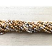 3mm facetslebne perler af crazy agat