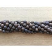 matte brune perler 6mm