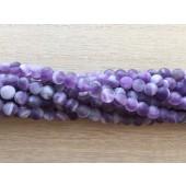 6mm matte ametyst perler