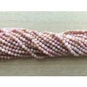 3mm kinesisk rhodonit perler