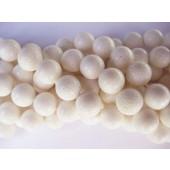 14mm hvid svampekoral perler
