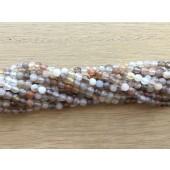 3mm facet botswana agat perler