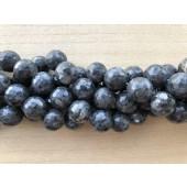 18mm facetslebne runde perler af larvikit