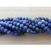 6mm matte runde sodalit perler