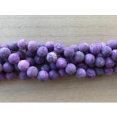 12mm matte lilla perler