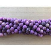 8mm matte lilla perler