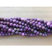 6mm matte lilla perler