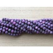 4mm matte lilla perler