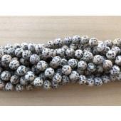 12mm matte dalmatiner jaspis