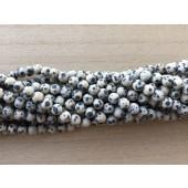 matte dalmatiner jaspis perler