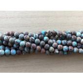 6mm matte runde perler af efterårs jaspis