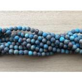4mm matte runde perler af efterårs jaspis