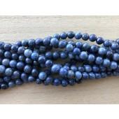 6mm afrikanske blå sten perler