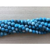 6mm matte turkis blå perler