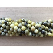 8mm perler af gul turkis