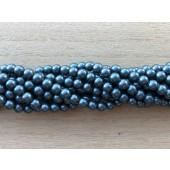 4mm petrolium blå perler