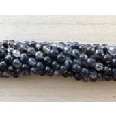 6mm krakkeleret sort agat