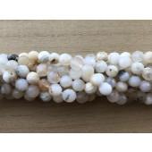 8mm hvide opal perler