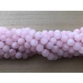 10mm matte perler af rosenkvarts