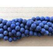10mm matte lapis lazuli perler