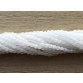 2mm facetslebne hvide agat perler