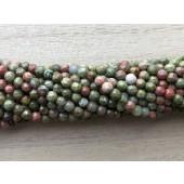 3mm facetslebet unakit perler