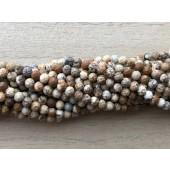 3mm facetslebne perler af picture jaspis