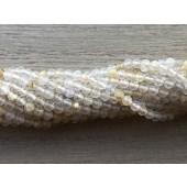 2mm gylden rutil kvarts perler