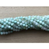 3mm facetslebet grøn opal