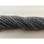 3mm runde røgkvarts perler