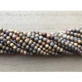 3mm leopard jaspis perler