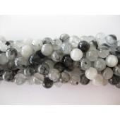 8mm perler af rutilkvarts