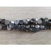 6mm flade pyrit mønt perler