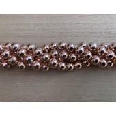 12mm rosaguld farvet hæmatit perler