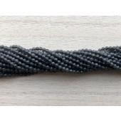 2mm facetslebne grå sorte perler